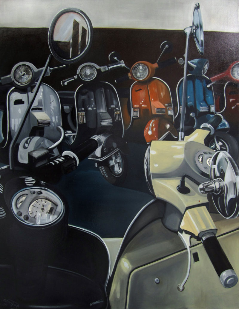 Scooter gang 100x130cm
