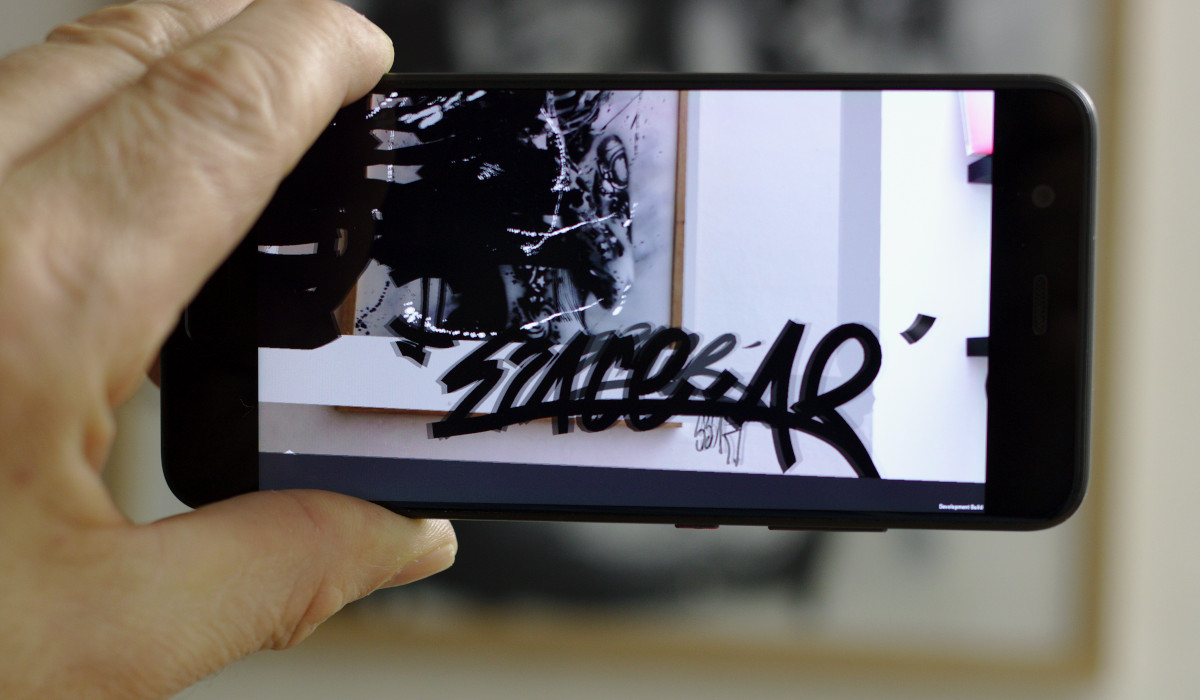 Space AR stencil art Shane Sutton
